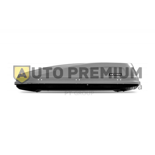 Автобокс на крышу Серый ACTIVE M (450 л) Аэродинамический с двусторонним открыванием